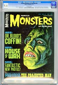 FAMOUS MONSTERS #45 (1967) CGC NM 9.4 OW Pages - PROJECTED MAN - HOUSE OF WAX