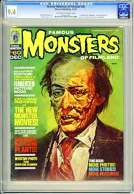 FAMOUS MONSTERS OF FILMLAND #60 (1969) CGC NM 9.4 OWWpg FRANKENSTEIN - KING KONG