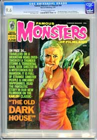 FAMOUS MONSTERS #66 (1970) CGC NM+ 9.6 OWW  Pages - THE OLD DARK HOUSE Filmbook