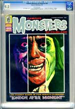 FAMOUS MONSTERS OF FILMLAND #69 (1970) CGC NM- 9.2 OW Pgs LONDON AFTER MIDNIGHT