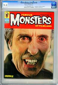 FAMOUS MONSTERS #84 (1971) CGC NM 9.4 OWW Pgs - THE RAVEN - CHRISTOPHER LEE