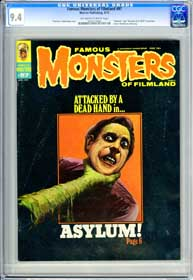 FAMOUS MONSTERS #97 (1973) CGC NM 9.4 OWW Pages - ASYLUM - DRACULA A.D. 1972