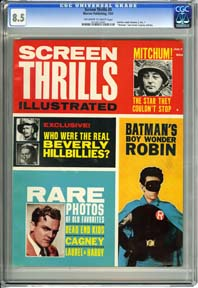 "SCREEN THRILLS #5 (1963) Indicia reads Volume 2, No.1 ""Batman"" and James Cagney Articles"