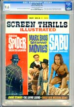 SCREEN THRILLS #8 (1964) CGC NM+ 9.6 COW Pages SPIDER - JIMMY STEWART - MARX BRO