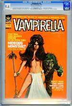VAMPIRELLA #10 (1971) CGC NM+ 9.6 OWW - FRANK BRUNNER - NEAL ADAMS