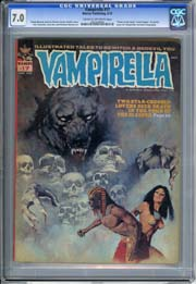 "VAMPIRELLA #17  (1972) CGC FN/ VF 7.0 ""Tomb of the Gods"" Series begins"