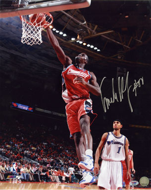 EMEKA OKAFOR - AUTOGRAPHED LARGE-FORMAT COLOR PHOTO (ACTION) w/COA BASKETBALL