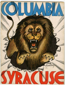 COLUMBIA UNIVERSITY VS SYRACUSE - OFFICIAL GAME PROGRAM (FOOTBALL) 11-24-1934