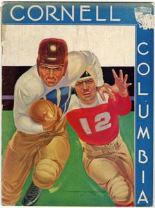 COLUMBIA UNIVERSITY VS CORNELL - OFFICIAL GAME PROGRAM (FOOTBALL) 10-31-1936