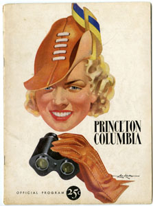 COLUMBIA UNIVERSITY VS PRINCETON - OFFICIAL GAME PROGRAM (FOOTBALL) 10-21-1939