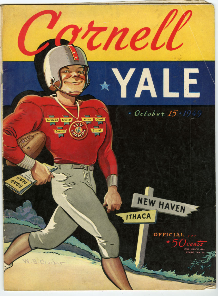 YALE UNIVERSITY VS. CORNELL - OFFICIAL GAME PROGRAM (FOOTBALL) 10-15-1949