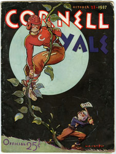 YALE UNIVERSITY VS. CORNELL - OFFICIAL GAME PROGRAM (FOOTBALL) 10-23-1937