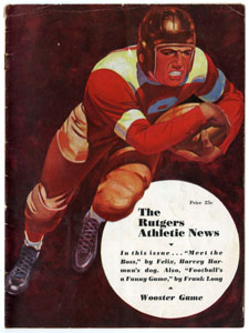 RUTGERS ATHLETIC NEWS - WOOSTER COLLEGE GAME PROGRAM (FOOTBALL) 1939