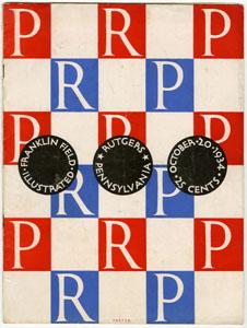 FRANKLIN FIELD ILLUSTRATED PENNSYLVANIA UNIVERSITY VS. RUTGERS GAME PROGRAM 1934