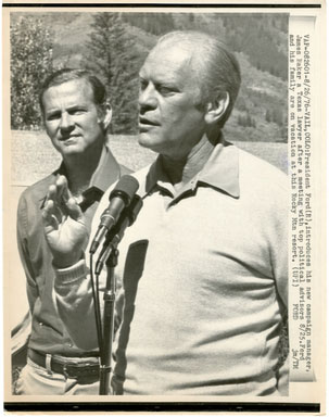UPI NEWS PHOTO: PRES. GERALD FORD INTROS JAMES BAKER