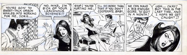 WAYNE BORING - DAVY JONES COMIC STRIP ORIG ART 9-12-69