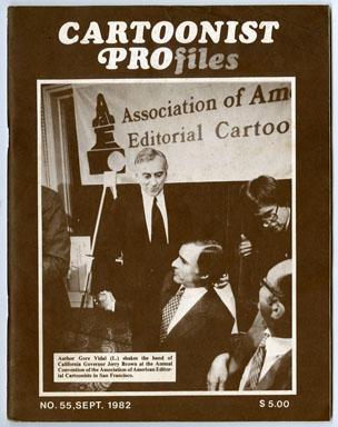 CARTOONIST PROfiles #55 (1982) FANZINE AL HIRSCHFELD