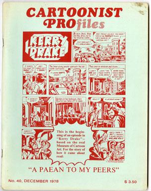 CARTOONIST PROfiles #40 (1978) FANZINE CHARLES SCHULZ