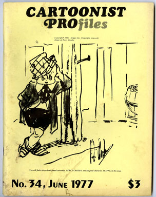 CARTOONIST PROfiles #34 (1977) FANZINE C.C. BECK  HOGARTH