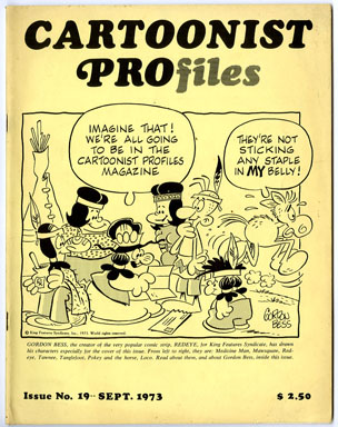CARTOONIST PROfiles #19 (1973) FANZINE CHUCK JONES ZIGGY