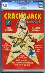 CRACKAJACK FUNNIES #29 CGC VF- 7.5 COW Pg - LOST VALLEY