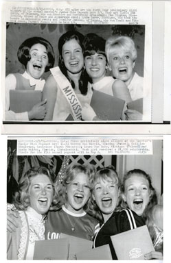 UPI NEWS PHOTO: JUNIOR MISS PAGENT CONTESTANTS 1969/74