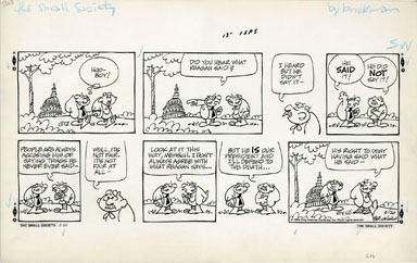M. BRICKMAN - SMALL SOCIETY SUNDAY ART 5-20-84 REAGAN