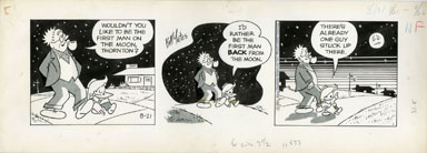 BILL YATES - PROF PHUMBLE DAILY ART 08-21-61 MOON MAN