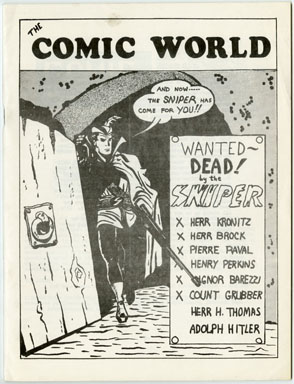 COMIC WORLD #13 FANZINE (1970) THE SNIPER - HITLER