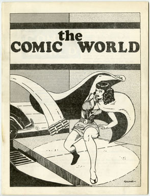 COMIC WORLD #10 FANZINE (1969) PHANTOM LADY Black Canary