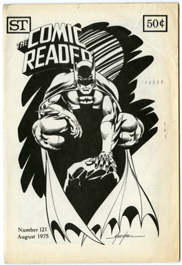 COMIC READER #121 FANZINE 1975 Mike GRELL BATMAN COVER