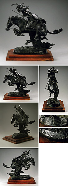 FREDERIC REMINGTON The Cheyenne Recast Bronze #409/1000