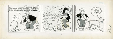 BILL YATES - PROF PHUMBLE DAILY ART 09-26-61 SHAKE! DOG