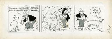 BILL YATES - PROF PHUMBLE DAILY ART 09-26-61 SHAKE! DOG
