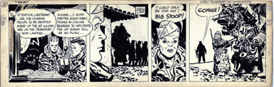 MILTON CANIFF - TERRY & PIRATES DAILY ORIG ART 1-12-46