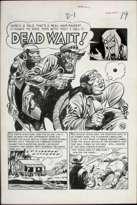 JACK DAVIS - VAULT OF HORROR #23 DEAD WAIT! Orig 6 page STORY ART EC