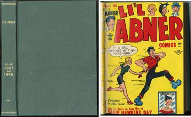 LI'L ABNER #61-69 BOUND VOLUME (1947-48) WOLVERTON ART