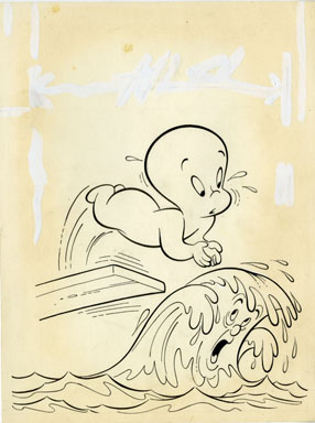 WARREN KREMER - FRIENDLY GHOST CASPER #3 COVER ORIG ART