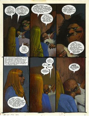 SIMON BISLEY - 2000 A.D. PROG #695 pg20 SLAINE ORIG ART