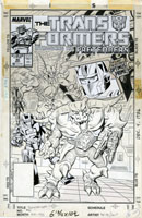 JOSE DELBO - TRANSFORMERS #40 COVER ORIGINAL ART 1988