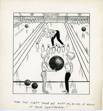 JEFF KEATE - TIME OUT ORIG ART 9-16 BOWLING / BIG BALL