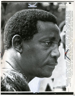UPI NEWS PHOTO: CHARLES EVERS RUNS FOR GOVERNOR (1971)
