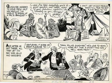 AL FAGALY - OUGHTA BE A LAW DAILY ORIG ART - SPEECHES
