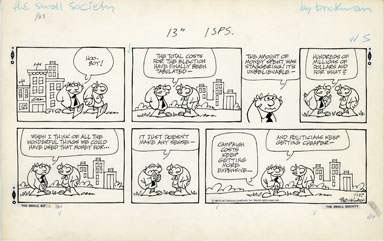 M. BRICKMAN - SMALL SOCIETY SUNDAY ART 01-27-85 MONEY