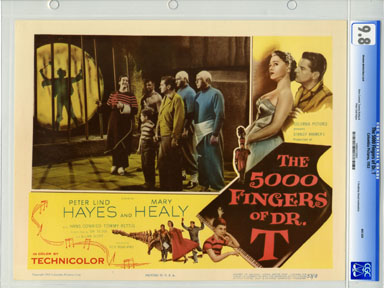 5000 FINGERS OF DR. T (1953) CGC LOBBY CARD 9.8 SHADOW BEHIND BARS