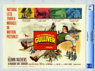 3 WORLDS OF GULLIVER (1960) CGC LOBBY CARD SET RAY HARRYHAUSEN
