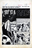 WALLY WOOD - WEIRD SCIENCE #16 TRIP TO A STAR Orig 7 pg Story ART