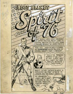 EDD ASHE - POCKET #1 CMPLT 12-PG STORY ART / ORIGIN & FIRST APPEARANCE OF SPIRIT OF '76 1st HARVEY