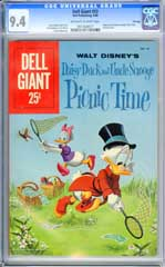 DELL GIANT #33 (1960) CGC NM 9.4 OWW Pgs UNCLE SCROOGE