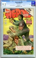 HEROIC COMICS #84 (1953) CGC NM- 9.2 OW Pgs - FILE COPY